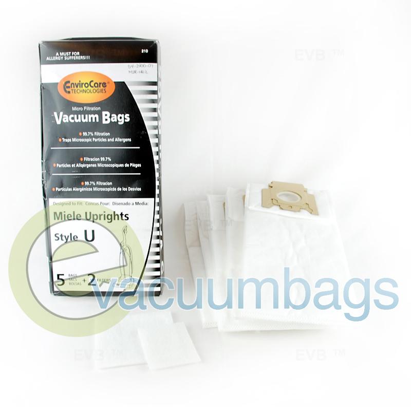 Generic Miele Style U Vacuum Bags By Envirocare 210
