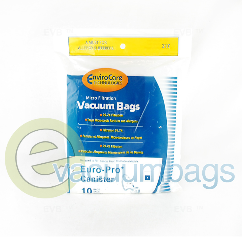 Euro Pro Canister Vacuum Bags By Envirocare Generic 10