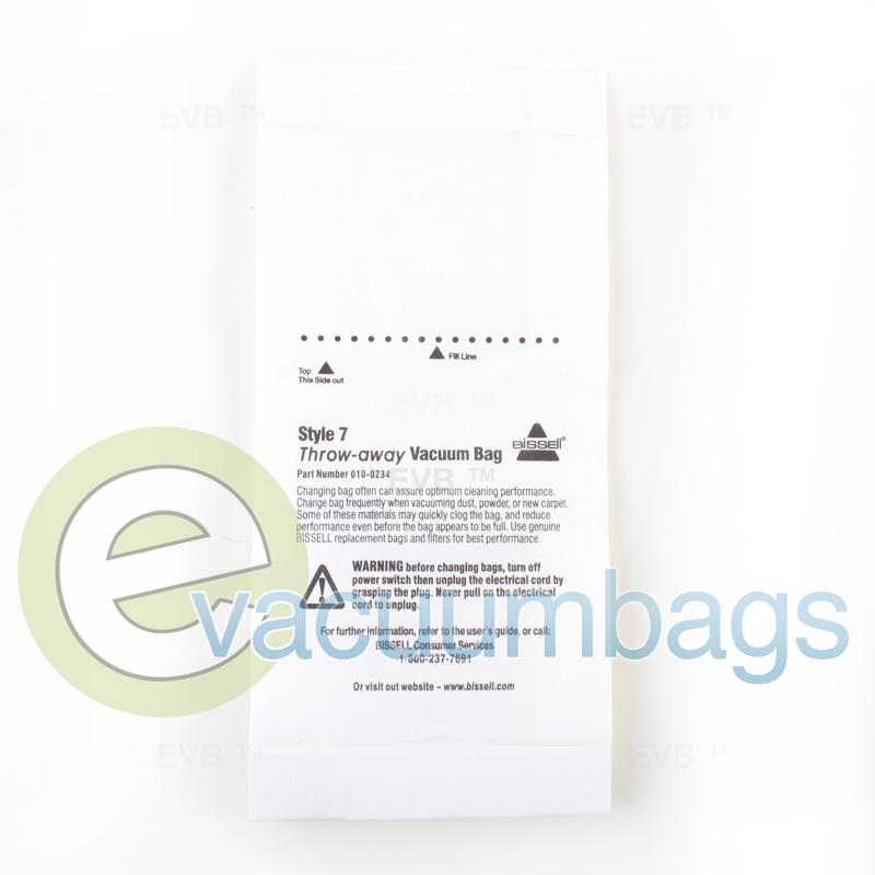 Bissell Genuine Style 7 Vacuum Bags 3 Pack 32120