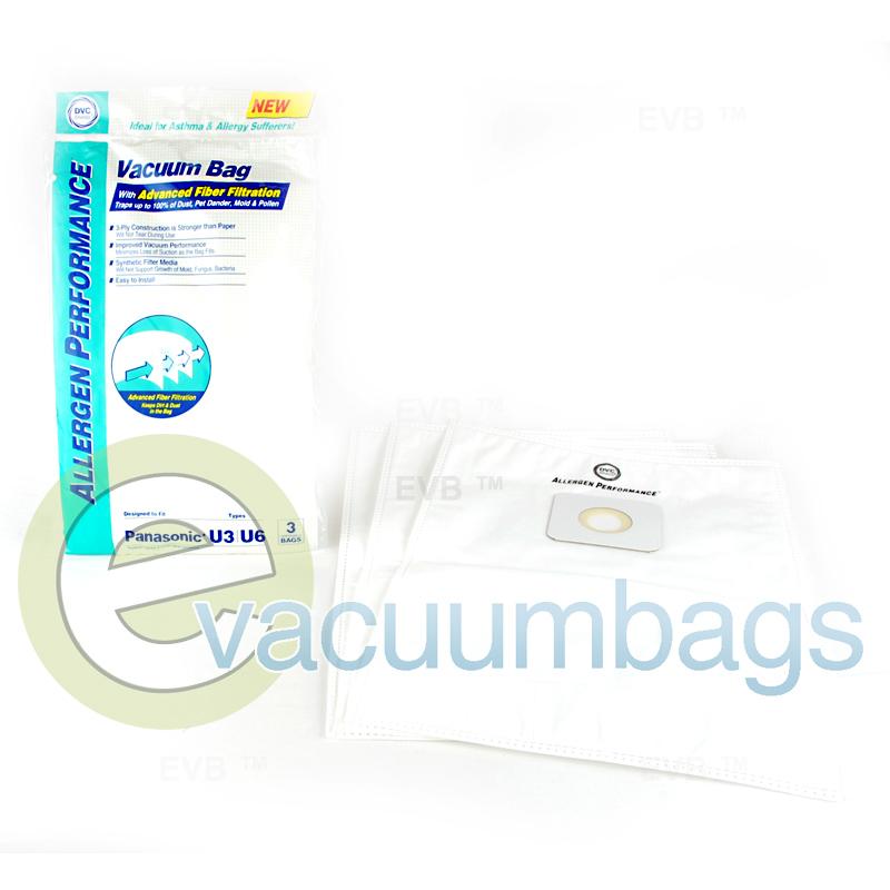 Panasonic Type U3 U6 Allergen Vacuum Bags By Dvc 464716
