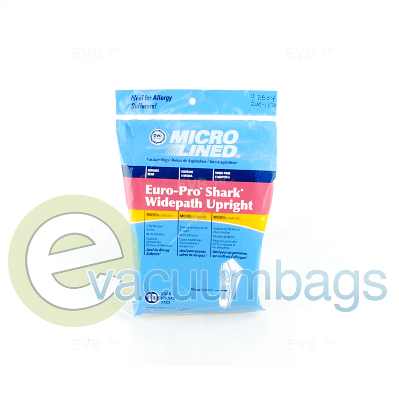 Euro Pro Shark Widepath Vacuum Bags By Dvc 471534