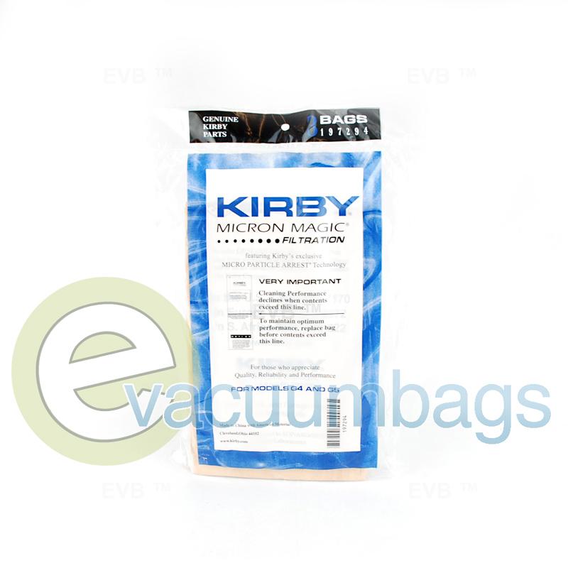 Kirby G4 and G5 Micron Magic Vacuum Bags 3 pk.