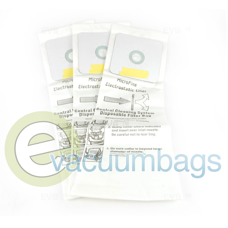 EnviroCare Replacement Micro Filtration Vacuum Bags for Nutone Central Vacuums 3 Pack