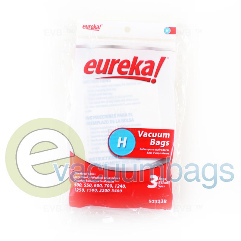 Eureka Style H Princess Caniser Paper Vacuum Bags 3 Pack