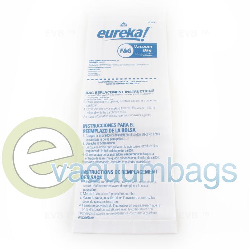 Eureka Style F Amp G Economy Box 10 Paper Vacuum Bags 54924b 10