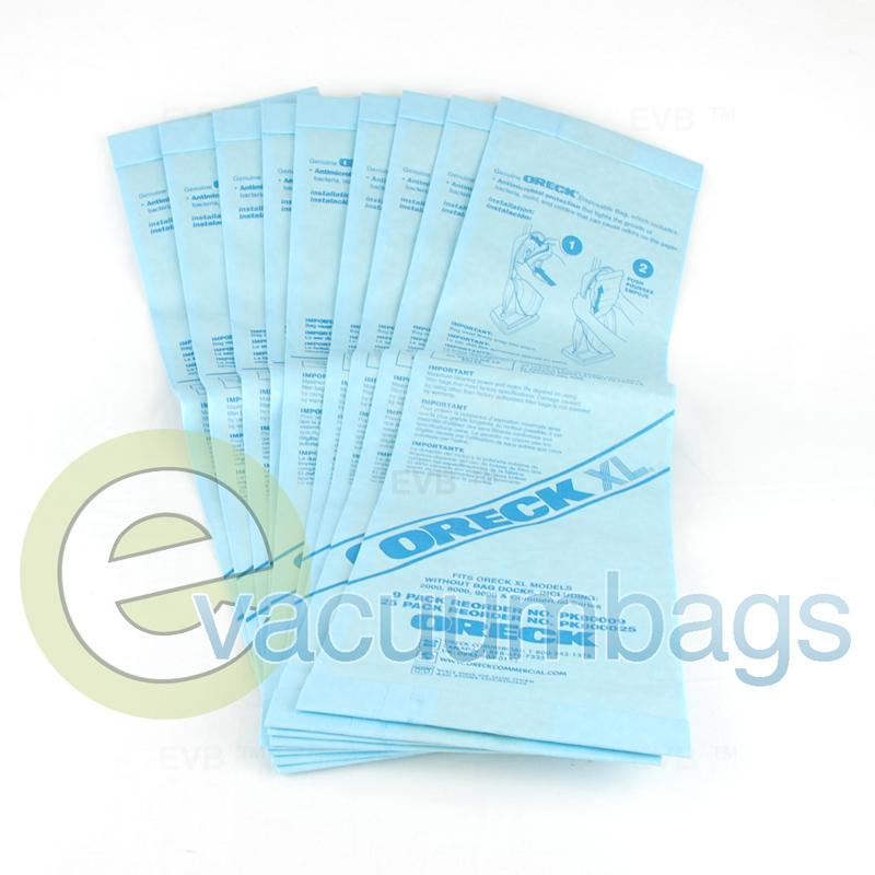 Oreck Xl Vacuum Bags 9 Pack 80009dw