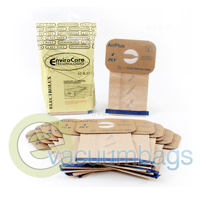 Electrolux Type C 4 Ply Vacuum Bags By Envirocare 805fp