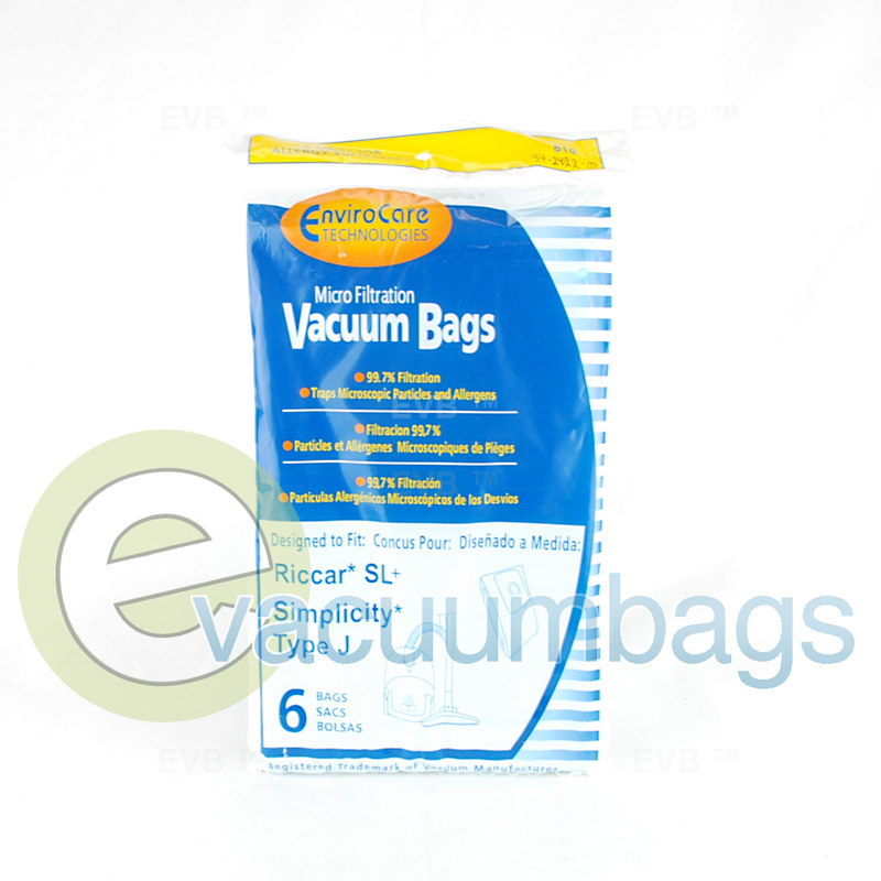 Riccar Style Sl Vacuum Bags By Envirocare 810