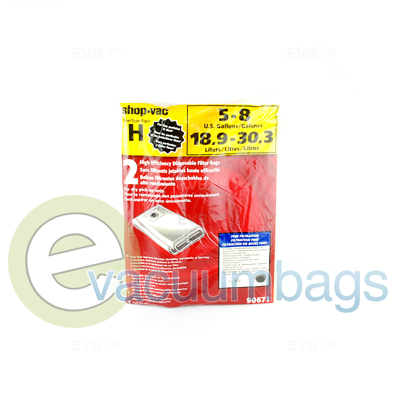 shop vac style h 5 8 gallon drywall collection vacuum bags