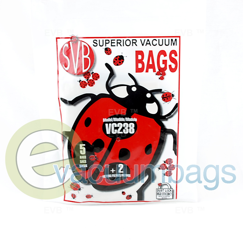 Little Bug Vc238 Canister Paper Vacuum Bags 5 Pack 2