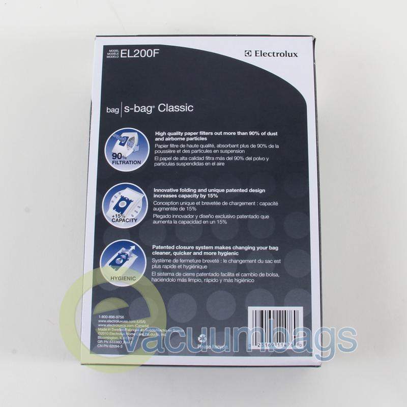 Electrolux El7020a Oxygen 3 Style S Vacuum Bags 3el200f 4
