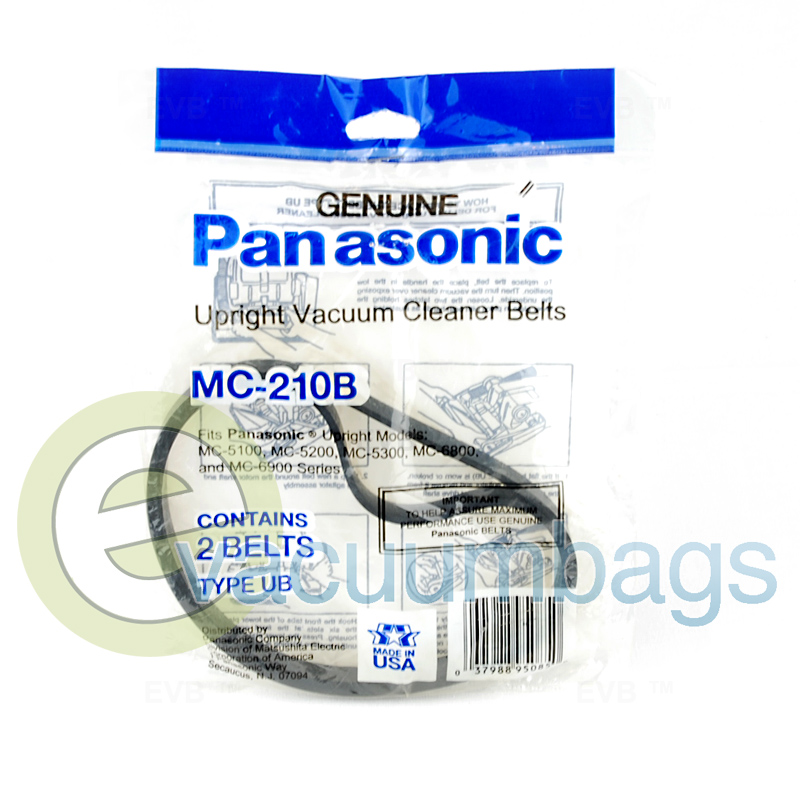 Panasonic Mc 210b Replacement Vacuum Belt 2 Pack
