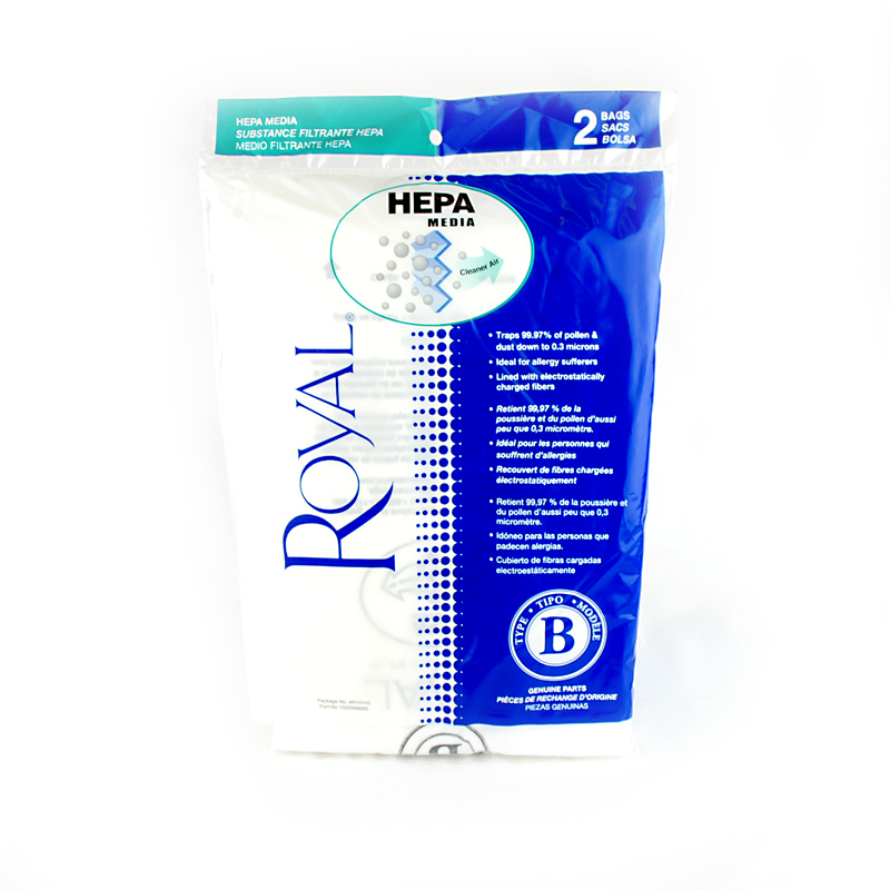 Royal Type B Upright Hepa Media Vacuum Bags Ar10110