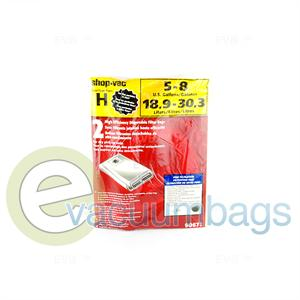 Shop Vac Style H 5 & 8 Gallon Vacuum bag